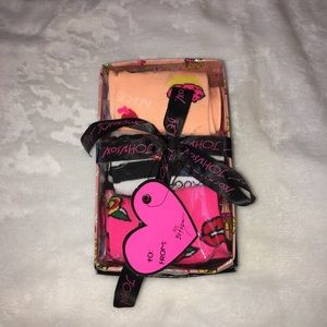 Set of 3 pairs of betsey johnson socks